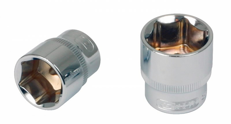"Šešiakampė galvutė 1/2"" 8mm CHROME+, KS tools"