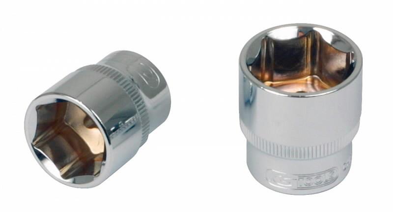 Šešiakampė galvutė 1/4´´ 6mm CHROME+, KS tools