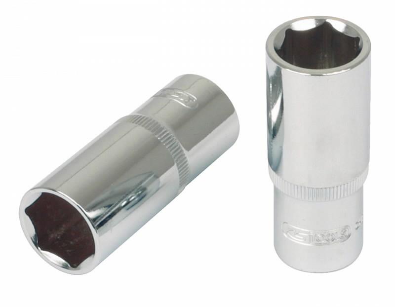 Galvutė,  šešiakampė, ilga  1/4´´ 8mm CHROME+, KS tools