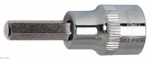 "Antgalis galvutė 1/4"" 4mm CHROME+, KS tools"