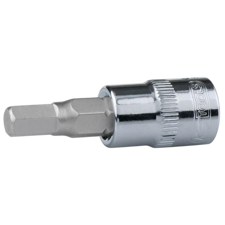 "Antgalis galvutė 1/4""  6mm CHROME+, KS tools"