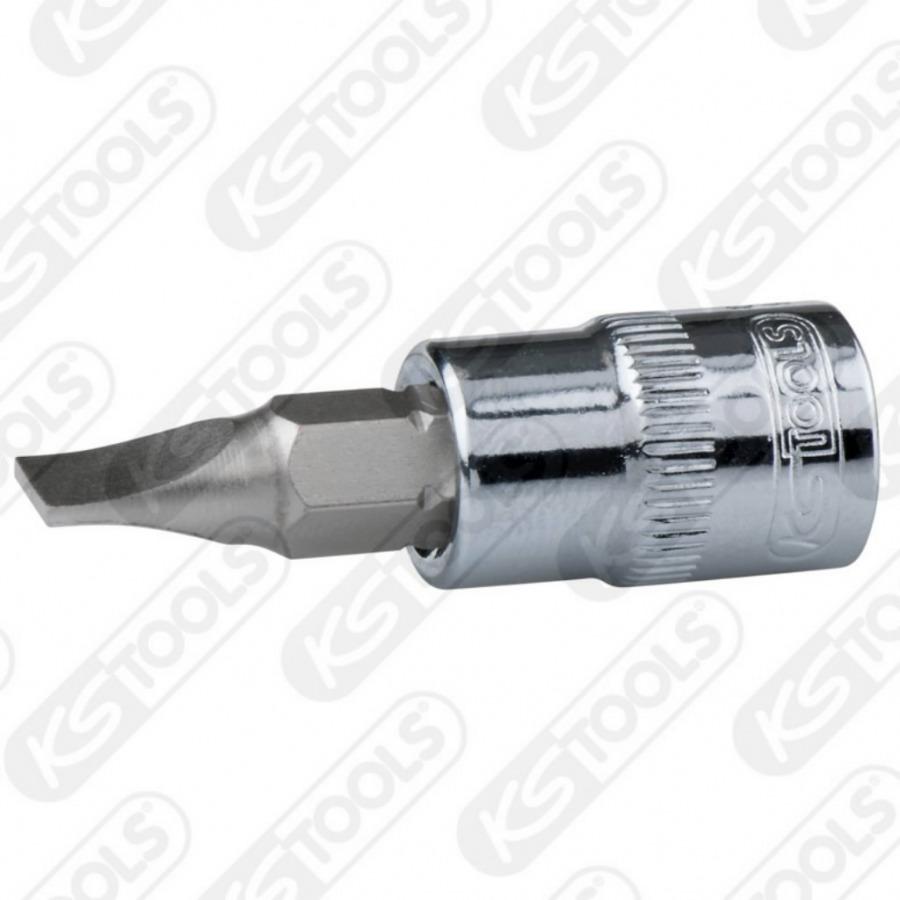 "Antgalis galvutė 1/4"",  5,5mm  CHROME+, KS tools"