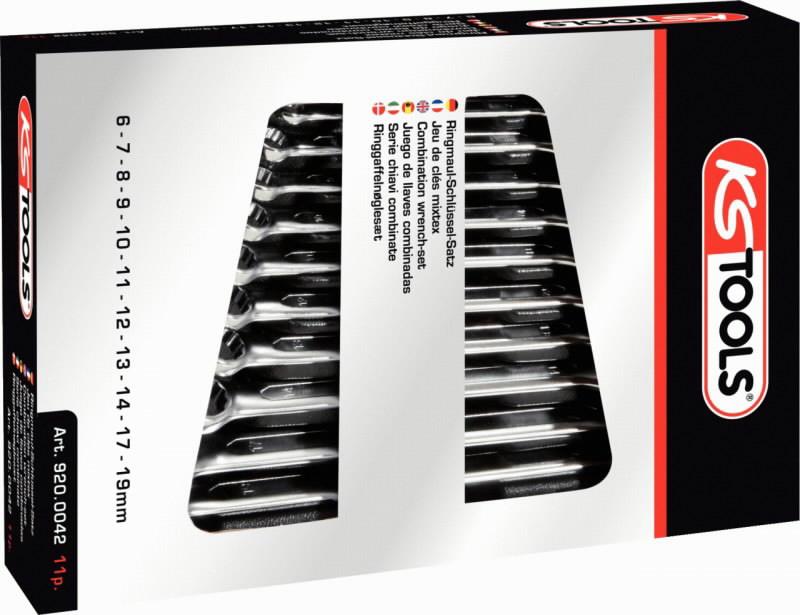 Kombinuotų raktų komplektas 12vnt. 8-19mm ULTIMATE+, KS tools