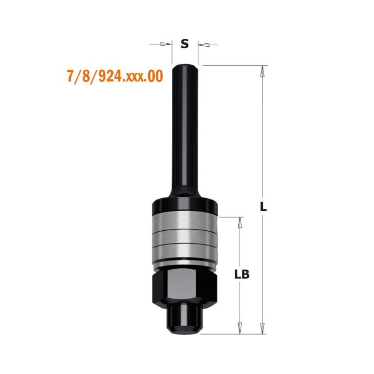 Soonefreesi võll S=8 L=26/61, CMT