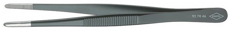 Pincetas juodai lakuotas, apvalintas, 145 mm, Knipex