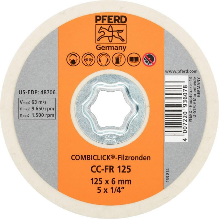 Diskas, veltinis 125mm CC-FR, Pferd