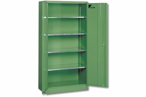 Locker 4 shelves 1900x950x500mm roheline, Metec