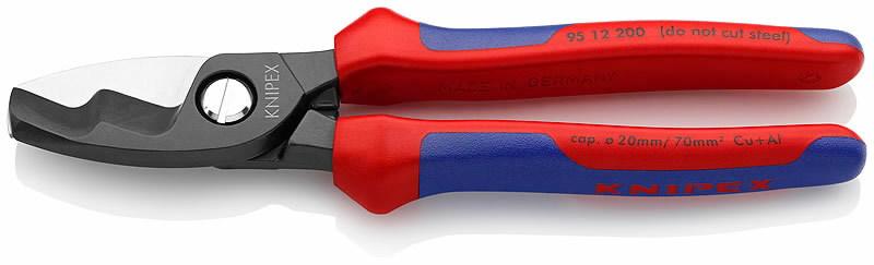 Žnyplės kabeliams Ø 20 mm, 70 mm², dvispalvės, Knipex