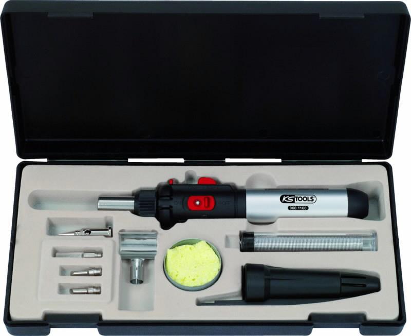 mikro jootmiskomplekt gaasigolviga 10-osa, KS Tools