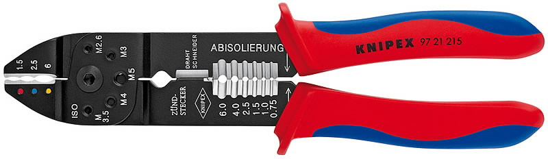 Replės kontaktams ir laidams 0,75-6 mm², Knipex