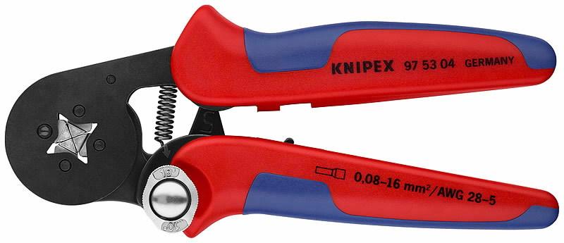 Laido galo kontaktų užspaudėjas, kvadratinis, 0,8-10 mm², Knipex