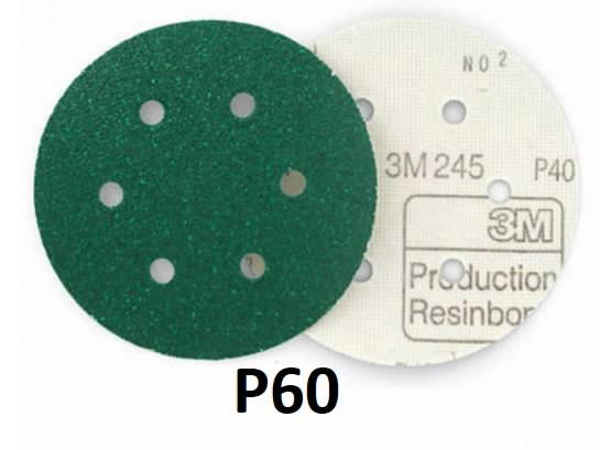 Šlifavimo diskas 150mm P60 6sk.  245 Hookit, 3M