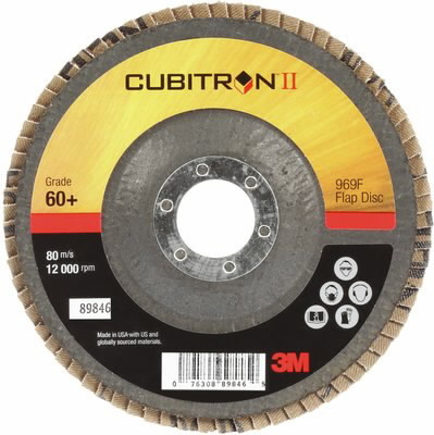 Cubitron II 969F vėduoklinis diskas kūginis 125mm P80+, 3M