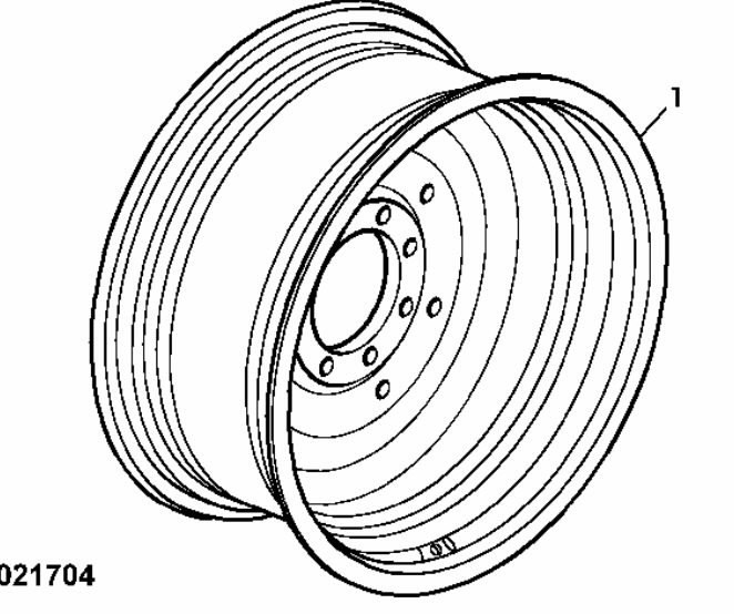 Wheel  TW18LX42, John Deere
