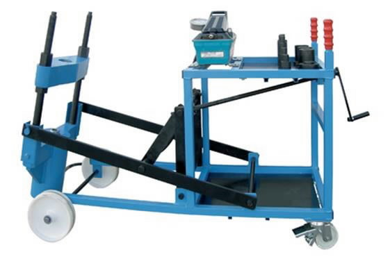 portable king pin press, 80T APP 680 , pneumohydraulic, Sefac