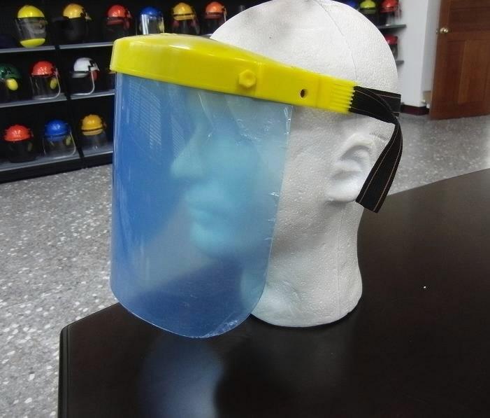 Apsauginis polikarbonatinis skydelis veidui