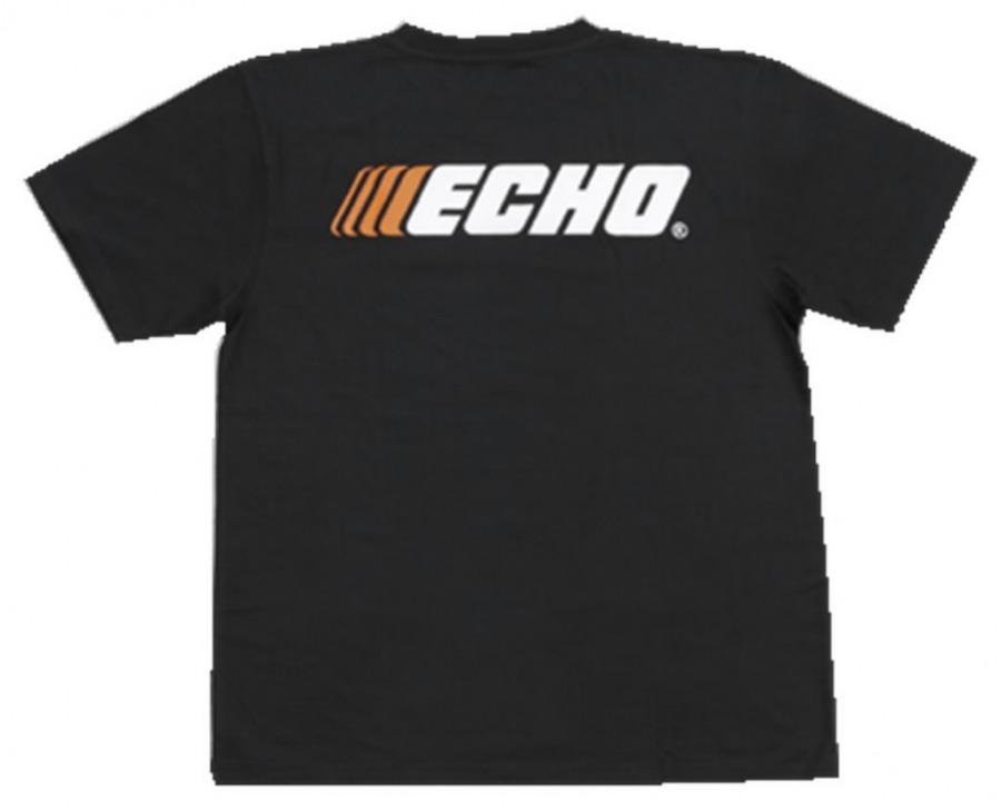 Marškinėliai , juodi, XL, ECHO