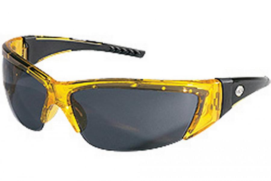Kaitseprillid ForceFlex, läbikumav kollane raam, hall klaas, MCR Safety