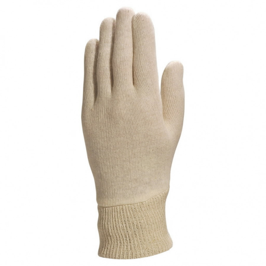 Gloves CO131 knitted cotton size 9 natural, Venitex