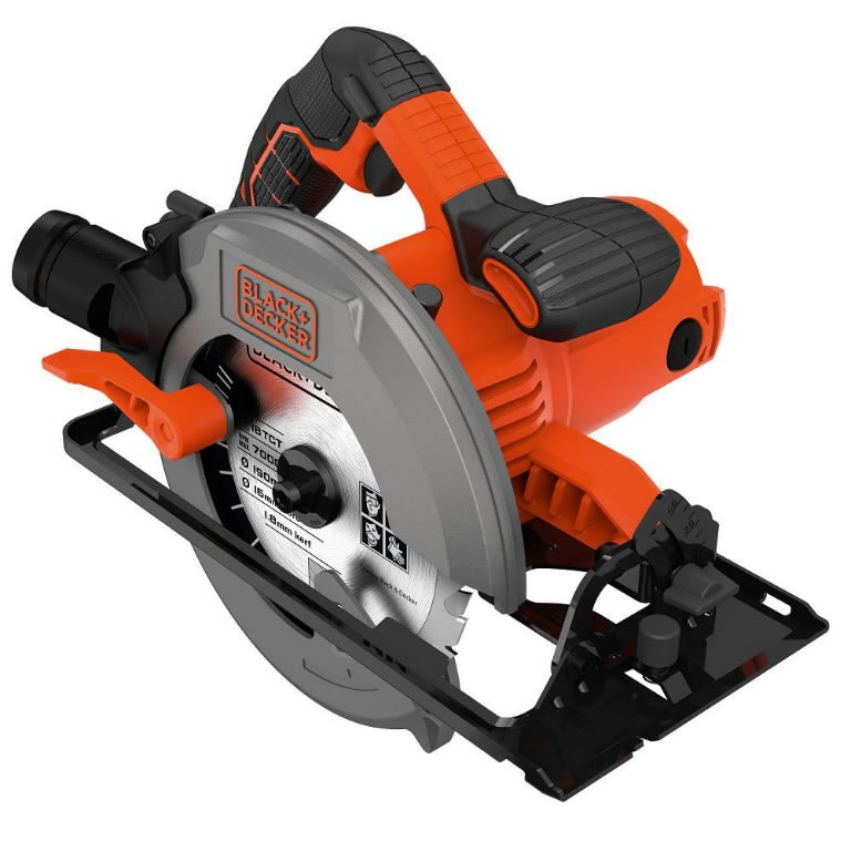 Rankinis diskinis pjūklas CS1550 66 mm 1500W, Black&Decker