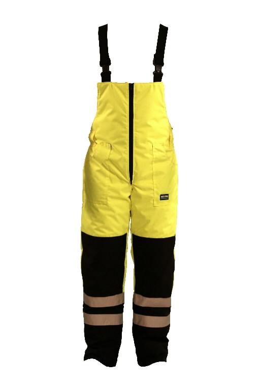 Kõrgnähtavad talve traksipüksid FB-8918-A kollane/sinine