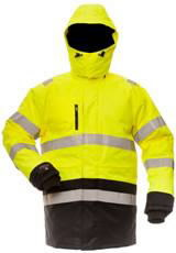 Žieminė striukė su  gobtuvu Pesso 8958, geltona/juoda, Other