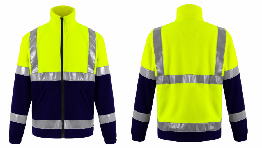 Džemperis FL01 geltona/tamsiai  mėlyna, Other
