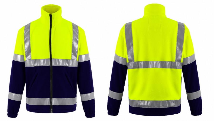 Džemperis FL01 geltona/tamsiai  mėlyna S