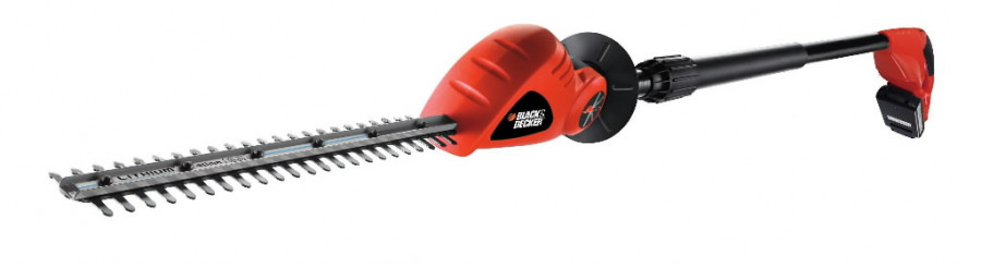 Cordless pole hedge trimmer GTC1843L20 / 18 V / 2 Ah / 43 cm, Black+Decker