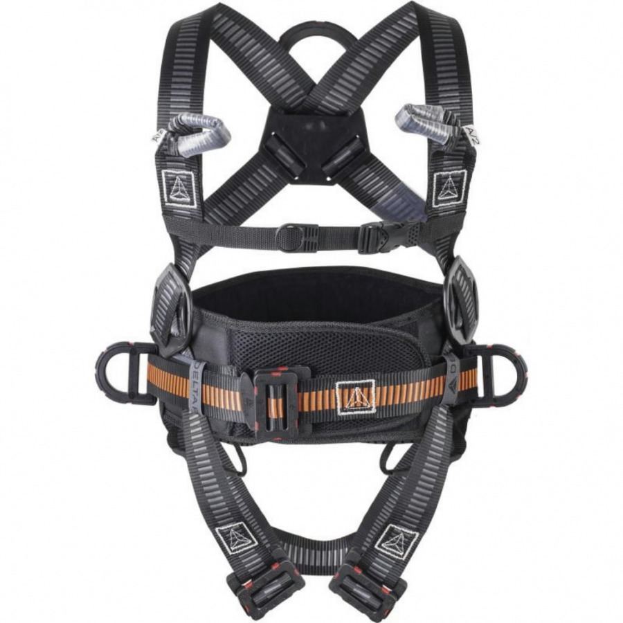 Fall arrester harness with belt, 4 anchorage points, Di-EL S/M/L
