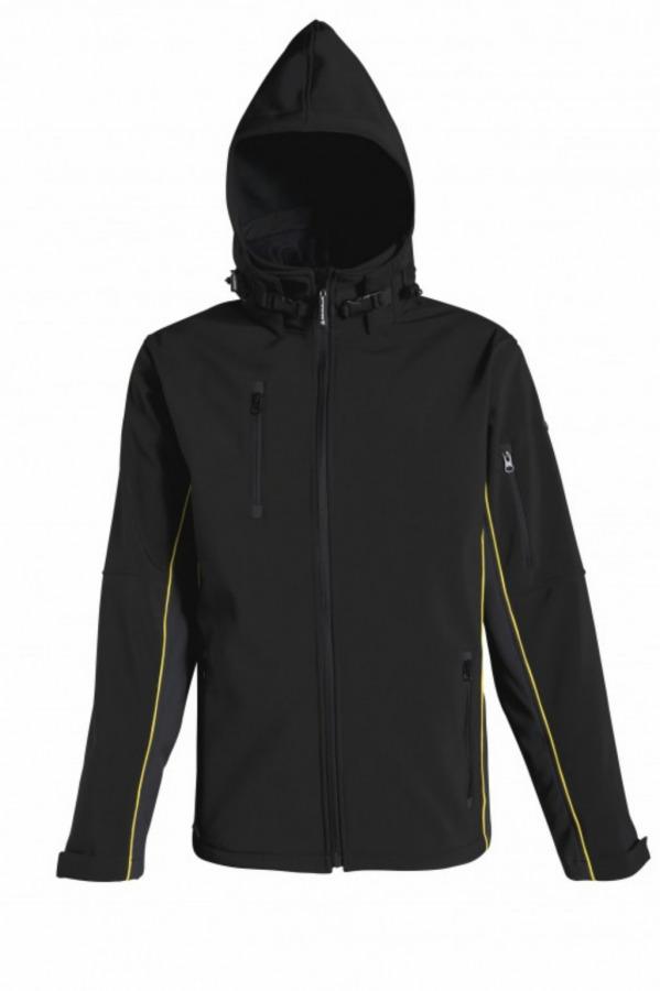Softshell  hood Horten, black, 2XL, Venitex