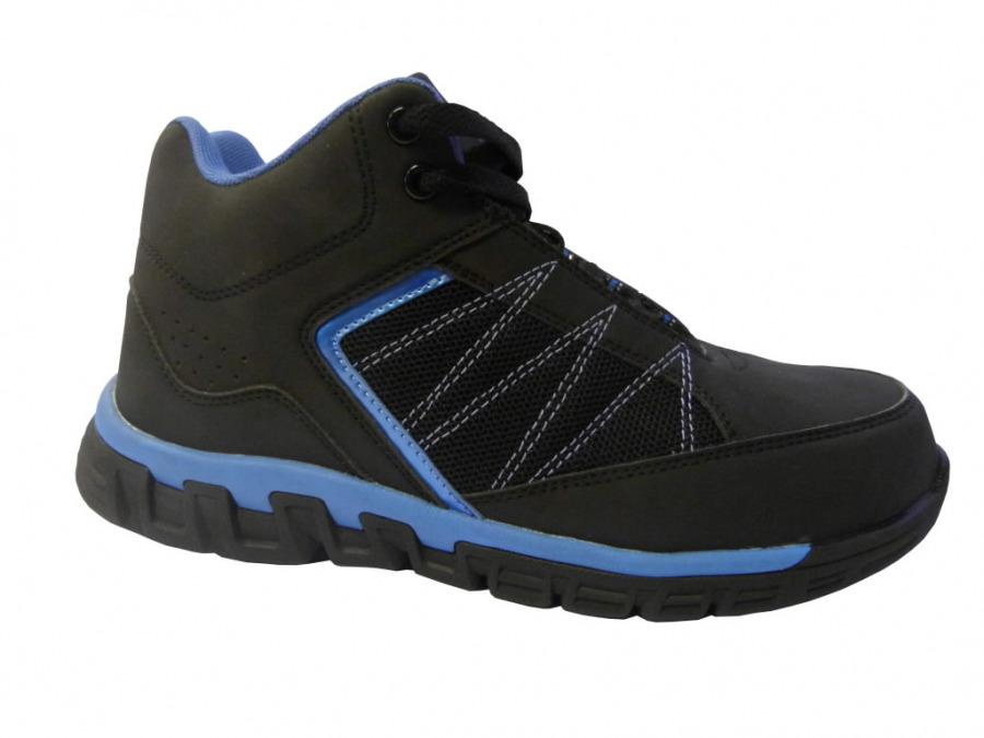 Darbiniai batai HighTop 023 SB/SRC, juoda/mėlyna, Lee Cooper
