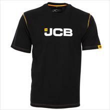 Black T-Shirt - Large, JCB