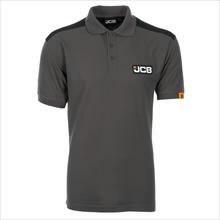 Marškinėliai polo , pilki/juodi, dydis L, JCB