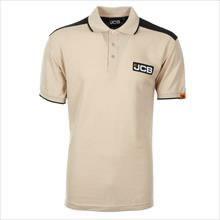 Marškinėliai polo , smėlio spalva/juodi, dydis XL, JCB