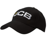 Black baseball cap with new branding, JCB