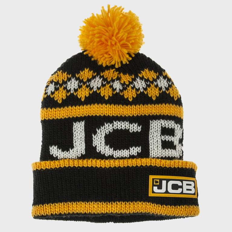 Pom-Pom Style Bobble Hat, JCB