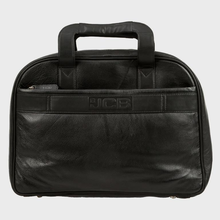 Bag leather briefcase black, JCB