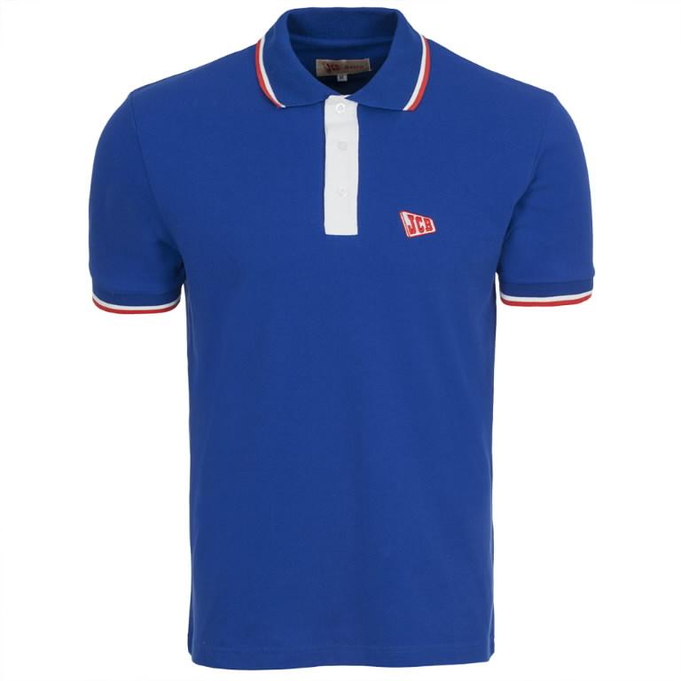 Marškinėliai polo  Retro, mėlyni, dydis L, JCB