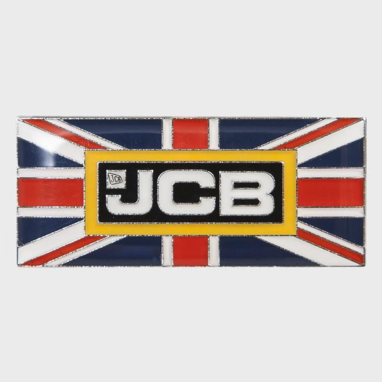 Pin Badge Union Jack , JCB