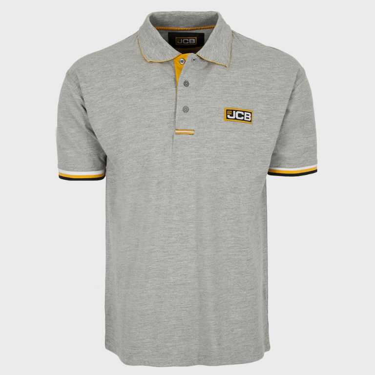 Marškinėliai polo , pilki, dydis XXL, JCB