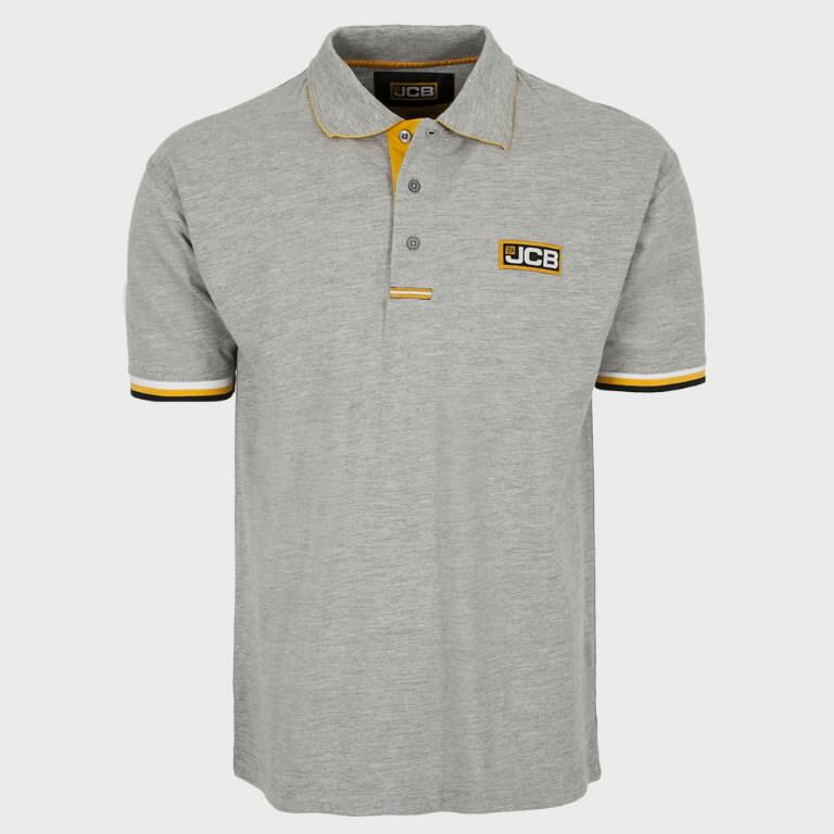 Marškinėliai polo , pilki, dydis XXXL, JCB