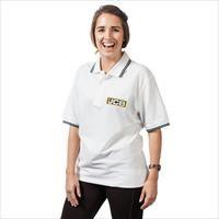 Poloshirt  white, size L, JCB