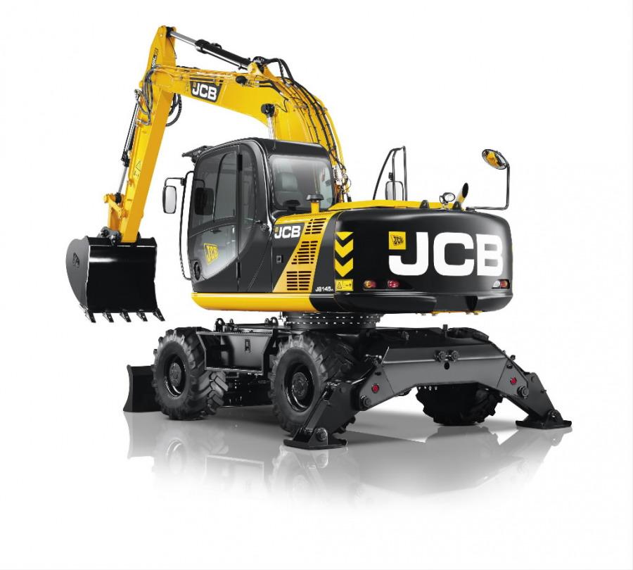 Ratasekskavaator  JS145W, JCB