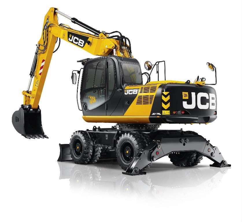 Riteņu ekskavators  JS175W, JCB