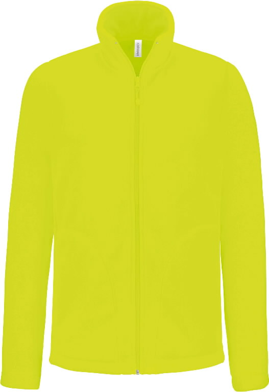 Fleece Kariba Falco, long zippered Yellow M