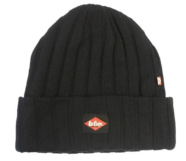 """Žieminė kepurė """"Rib Beanie"""" 601, vienas dydis, juoda, Lee Cooper"""