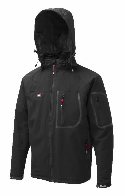 Žieminė striukė su gobtuvu,  407W, juoda, 2XL, Lee Cooper