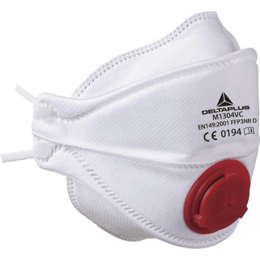 Disposable mask FFP3 M1304V D foldable exhalation valve. 10 vnt., Venitex