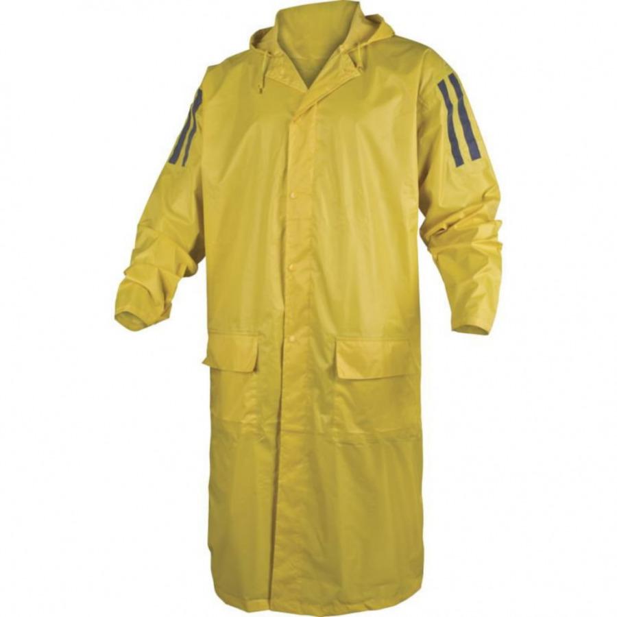 Apsiaustas  nuo lietaus poliesteris dengtas PVC, geltona XL
